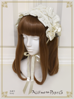 A/P rose lace frill head dress
