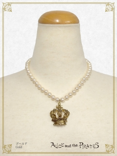 A/P vine rose crown pearl neck...